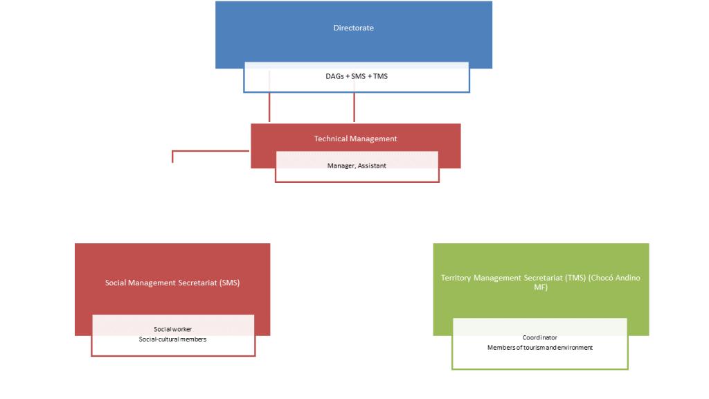 Choco Andino MF - Organization chart
